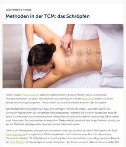 Schröpfen und TCM